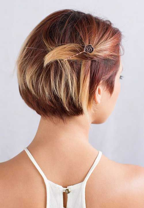 hairstyles for short hair with hair pins 4