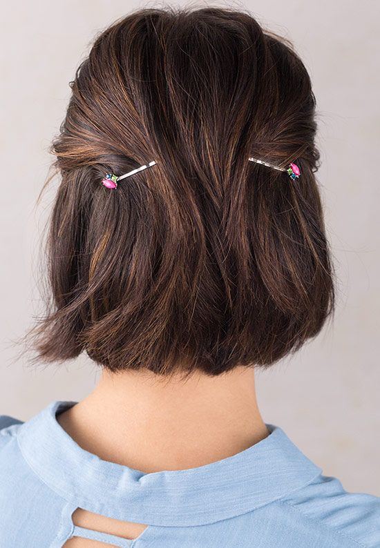 hairstyles for short hair with hair pins 6