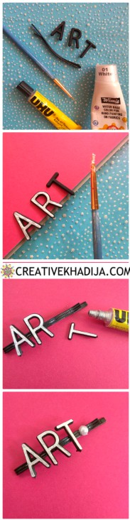 how to design and decorate pearl hair pins DIY