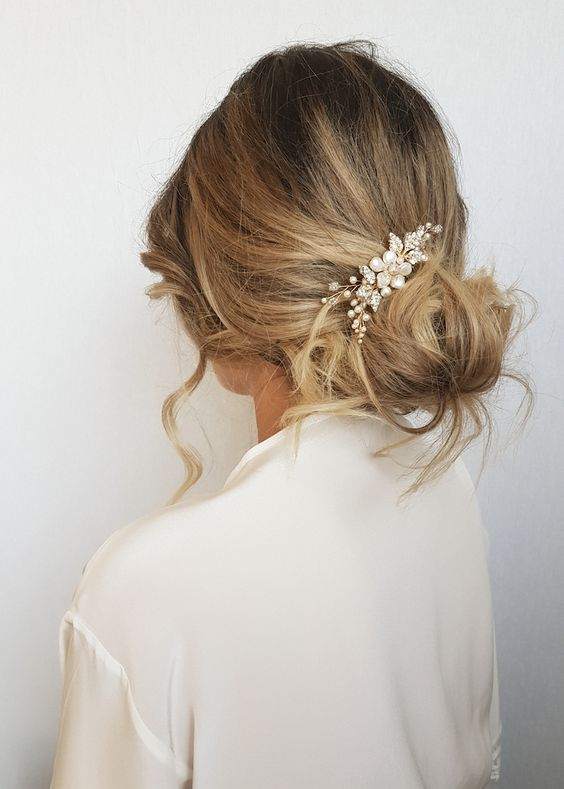 pearl hair pins with updo hairstyles 10