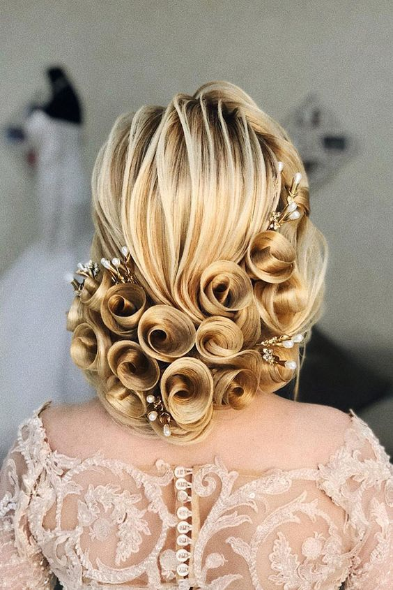pearl hair pins with updo hairstyles 12