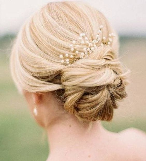 pearl hair pins with updo hairstyles 15