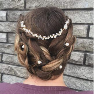 pearl hair pins with updo hairstyles 19