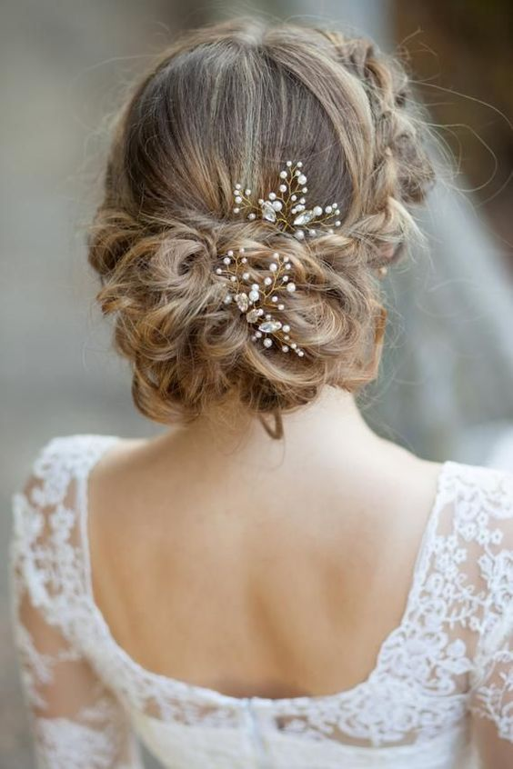 pearl hair pins with updo hairstyles 4