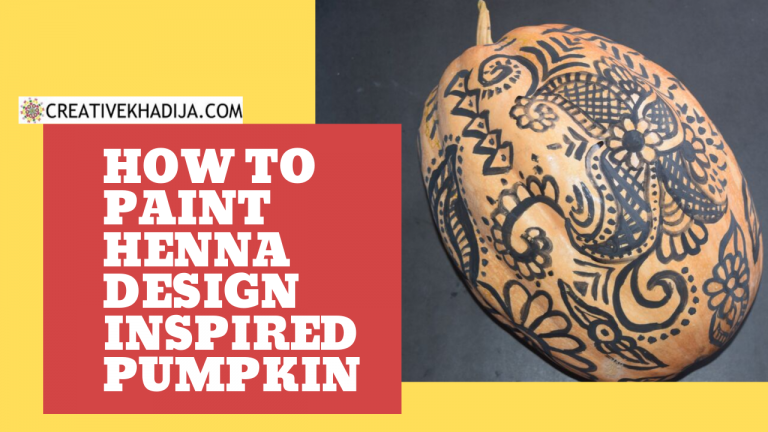 henna painting on pumpkin art for fall decor