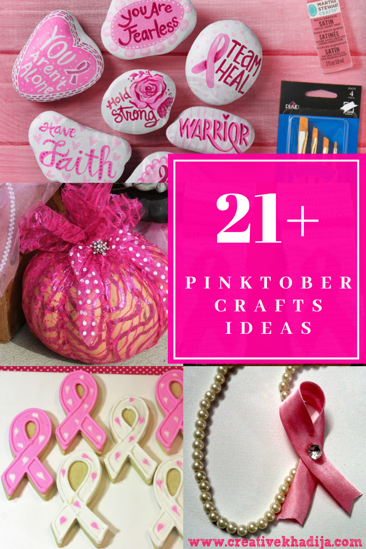 easy crafts for breast cancer awareness month