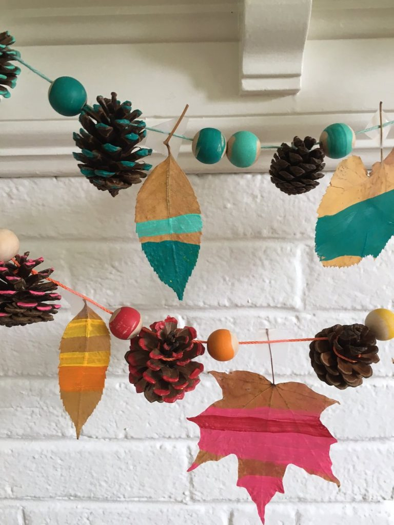 best fall banner and garland ideas from pinterest pine cone banner