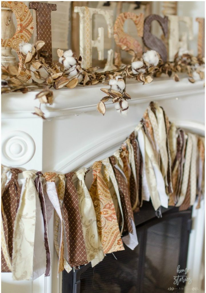 best fall banner and garland ideas from pinterest fabric tie banner
