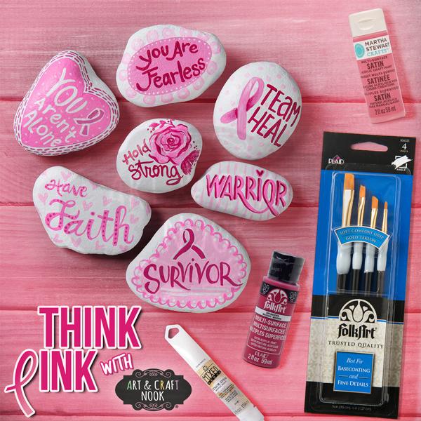 easy crafts for breast cancer awareness month kindness rocks
