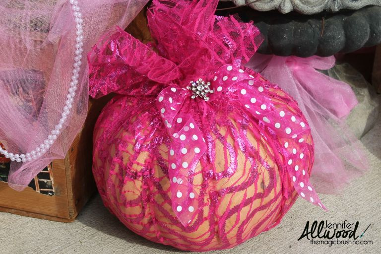 easy crafts for breast cancer awareness month pink pumpkin