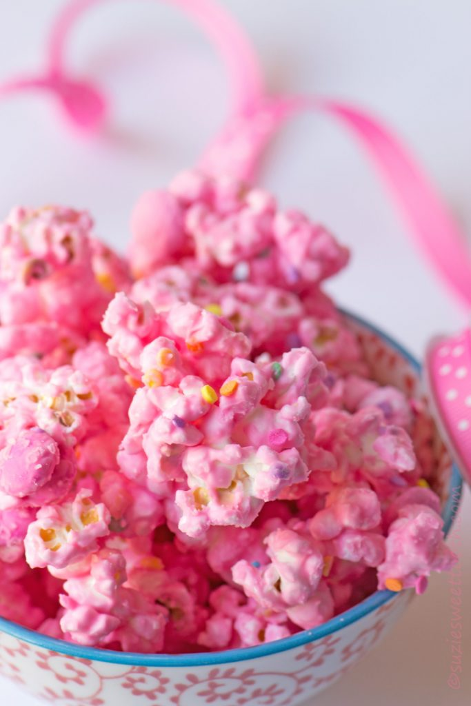 easy crafts for breast cancer awareness month pink candied popcorn