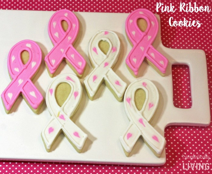 easy crafts for breast cancer awareness month pink ribbon cookies