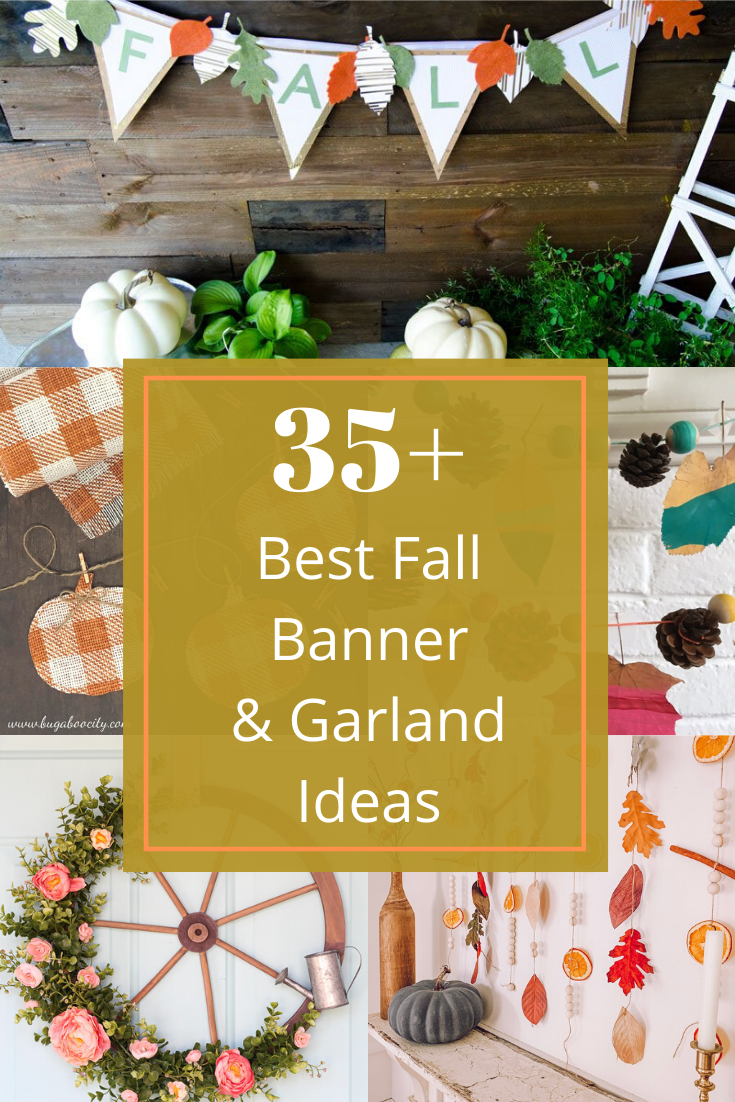 fall banner ideas and garland making