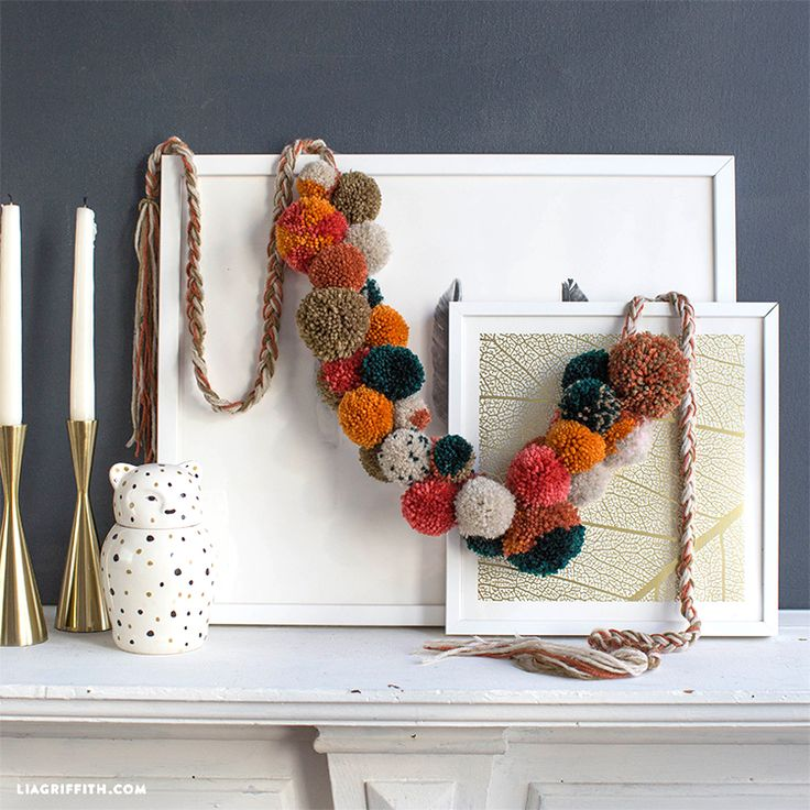 best fall banner and garland ideas from pinterest pom pom garland