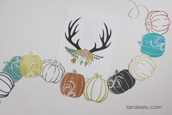 best fall banner and garland ideas from pinterest paper pumpkin garland
