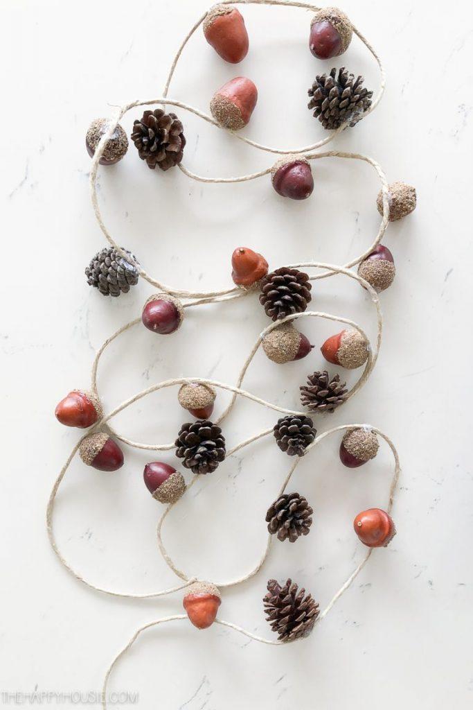 best fall banner and garland ideas from pinterest acorn garland