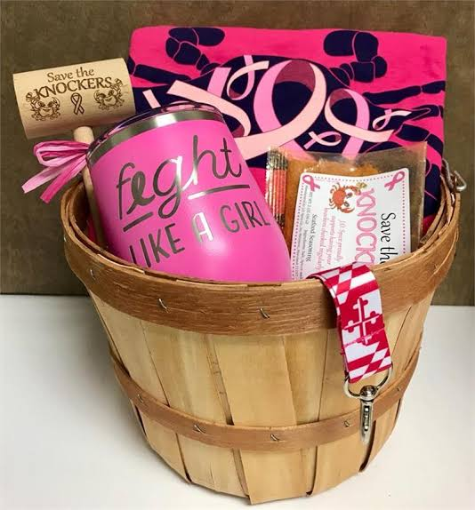 easy crafts for breast cancer awareness month gift basket