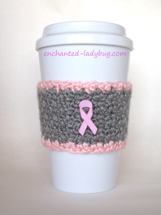 easy crafts for breast cancer awareness month cup sleeve