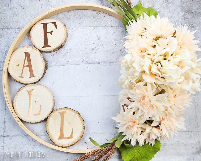 best fall banner and garland ideas from pinterest embroidery hoop wreath