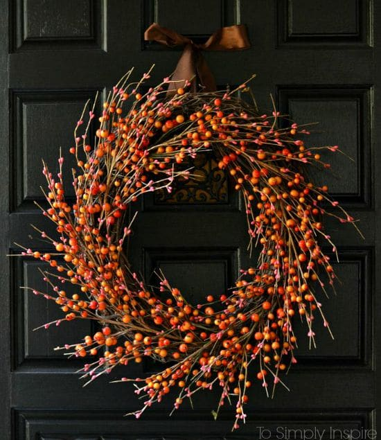 best fall banner and garland ideas from pinterest orange berry wreath