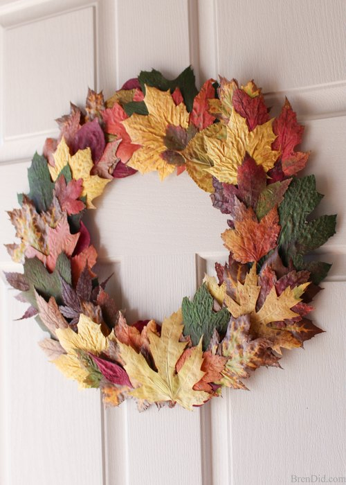 best fall banner and garland ideas from pinterest fall leaves wreath