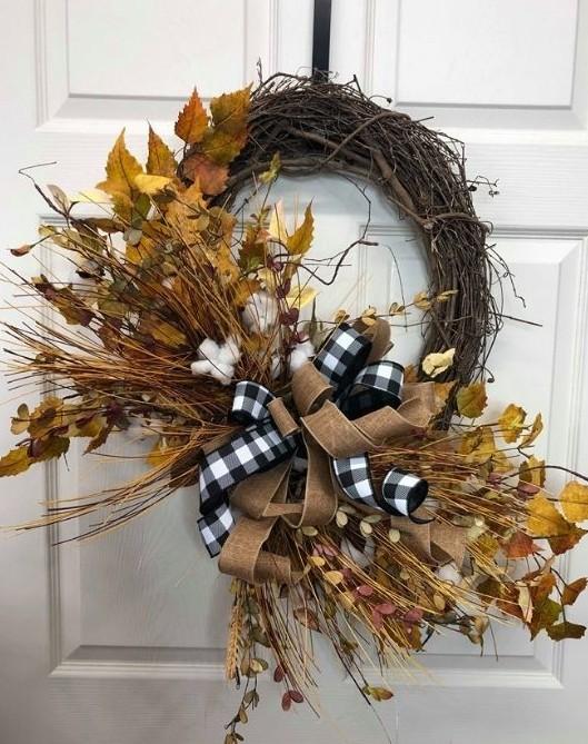 best fall banner and garland ideas from pinterest cotton stem wreath