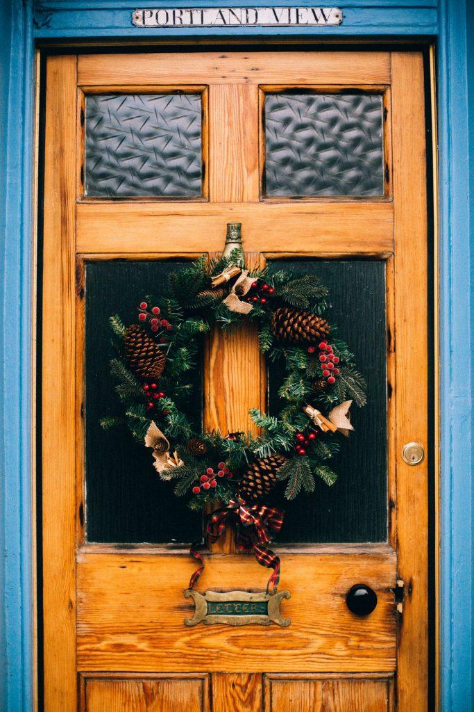 home renovation ideas have wreath on door