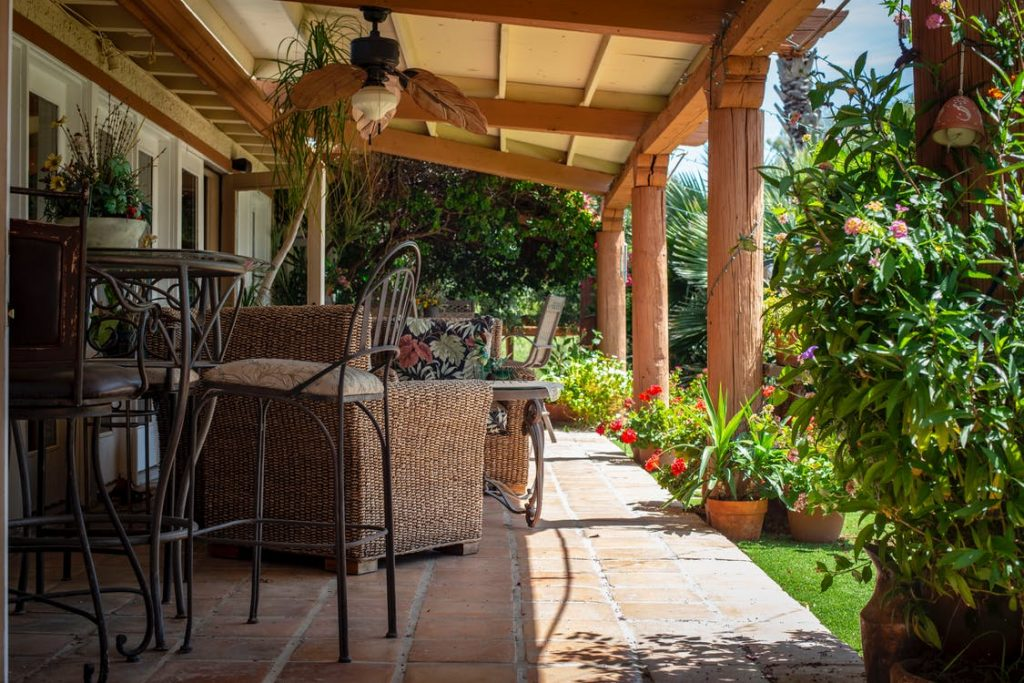 home renovation ideas outdoor sitting area