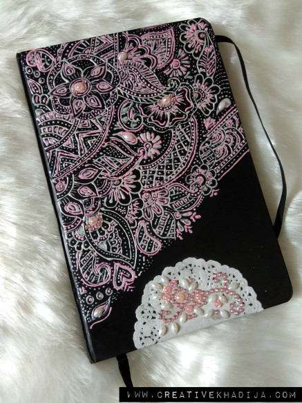 creative ideas using henna patterns in crafts notebook cover