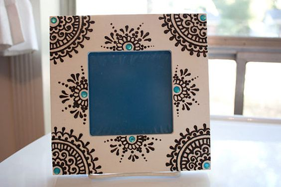 creative ideas using henna patterns in crafts frame