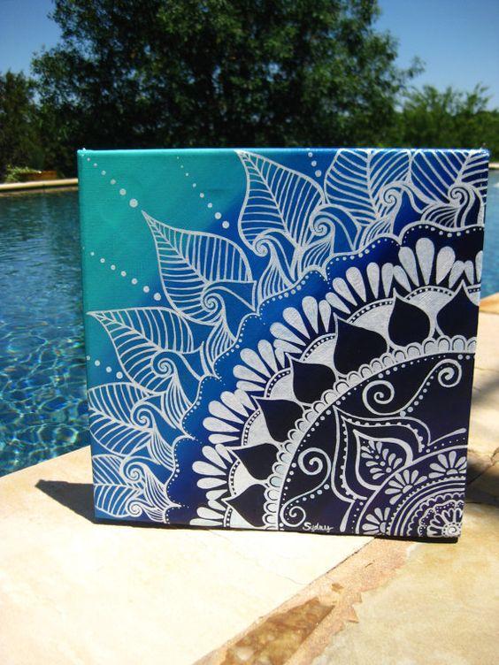 creative ideas using henna patterns in crafts canvas