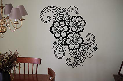 creative ideas using henna patterns in crafts wall art