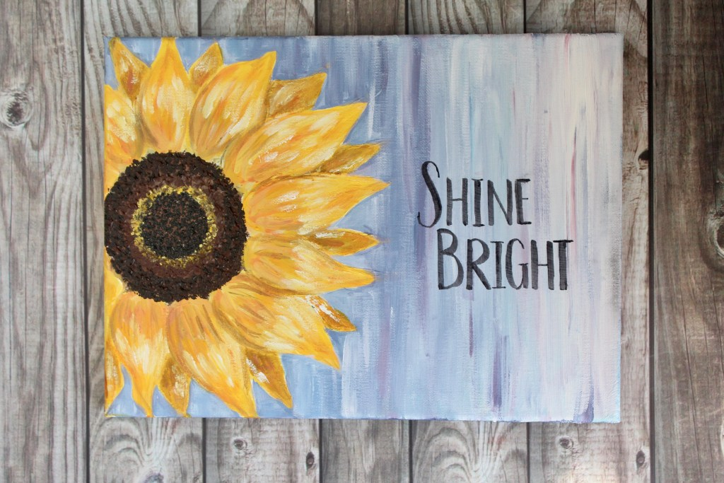 easy canvas painting ideas for beginners sunflower painting