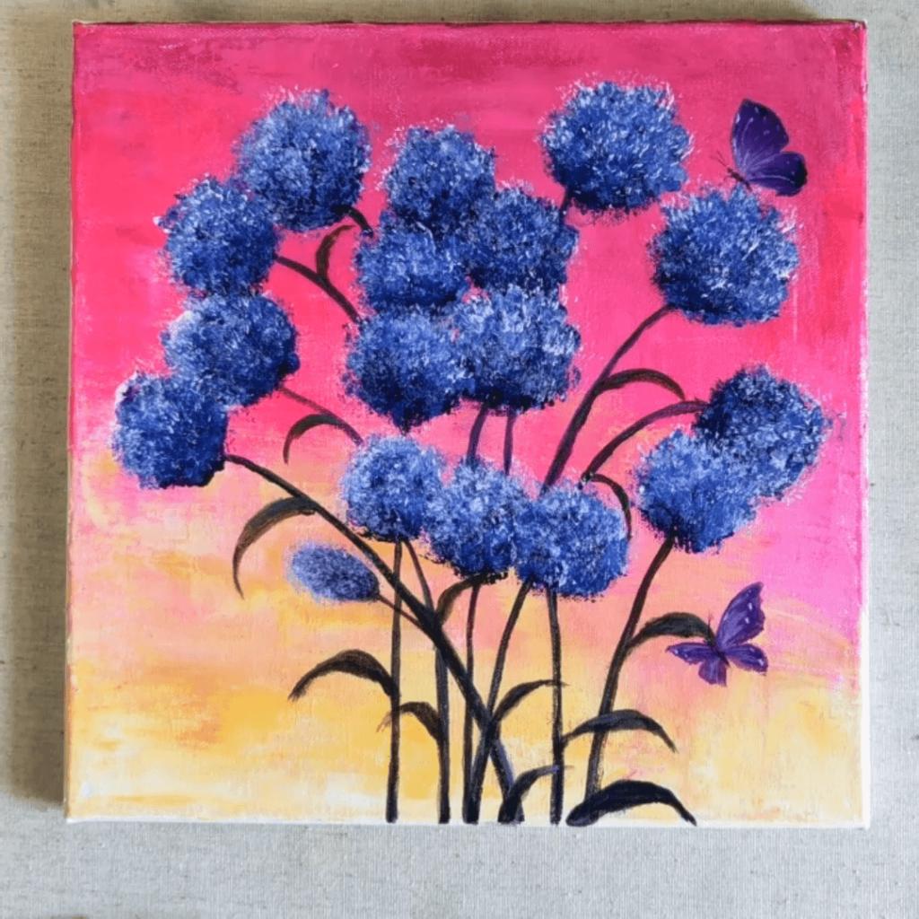 easy canvas art ideas for beginners