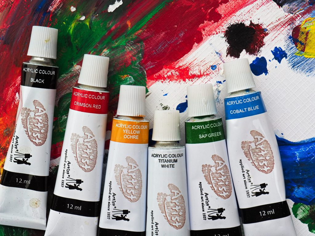 easy canvas painting ideas for beginners right type of paints