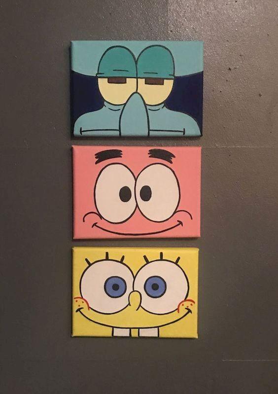 quick ways to painting spongebob characters
