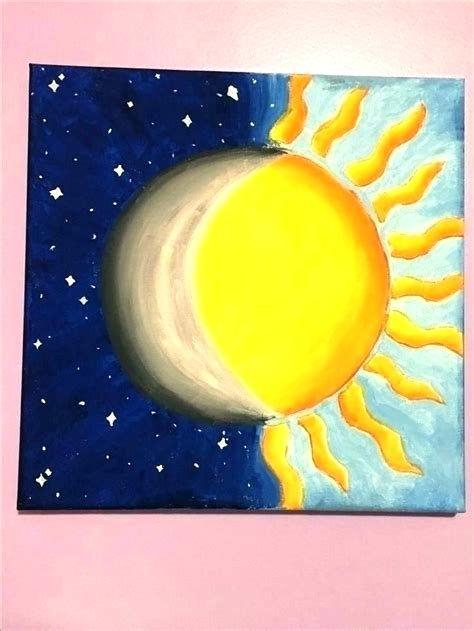 how to paint half sun half moon