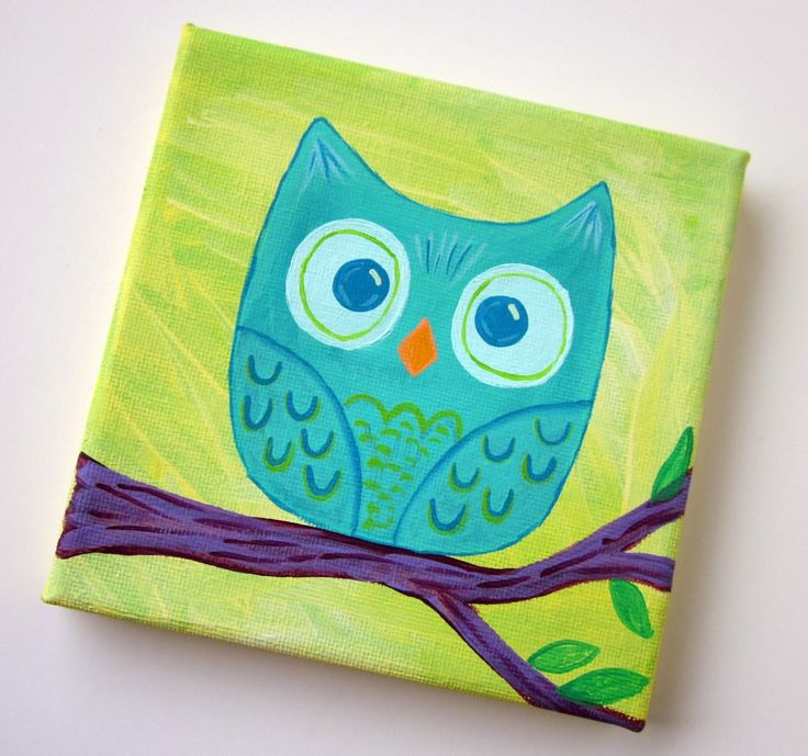 how to make owl on canvas