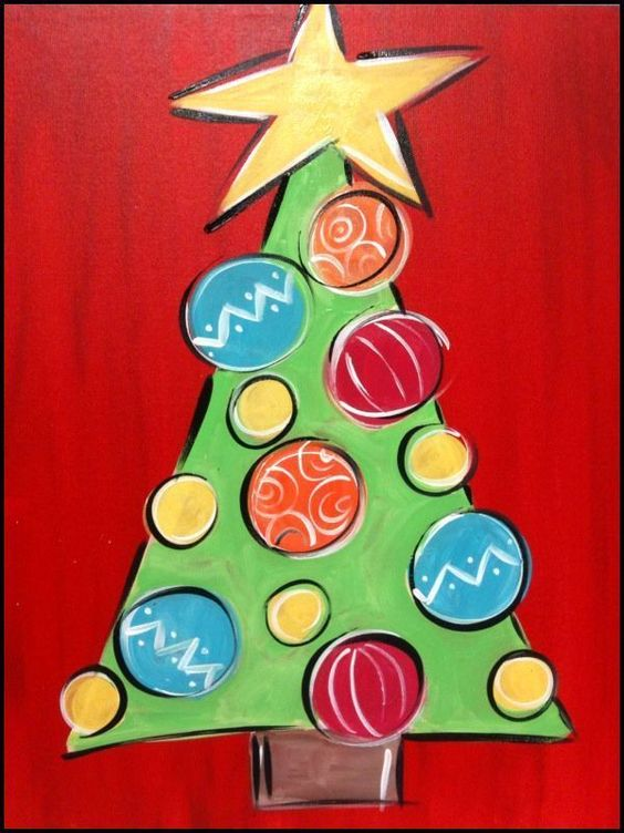 painting ideas for Christmas tree