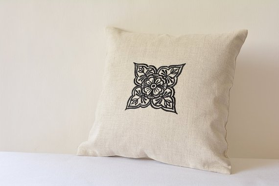 creative ideas using henna patterns in crafts cushion cover