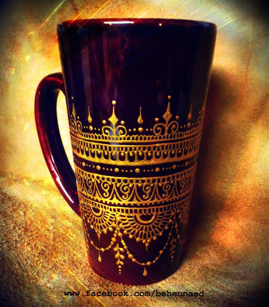 creative ideas using henna patterns in crafts mug
