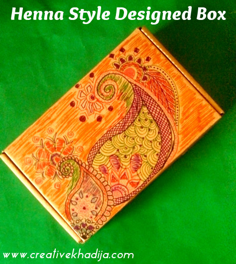 creative ideas using henna patterns in crafts gift box