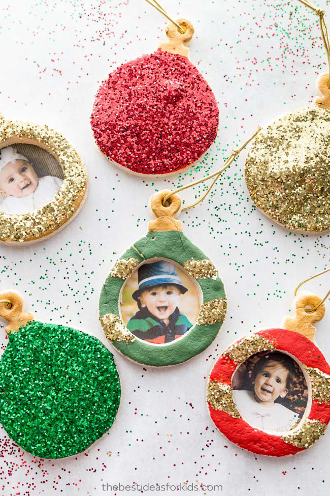 how to make salt dough ornaments and decorations photoframe ornament