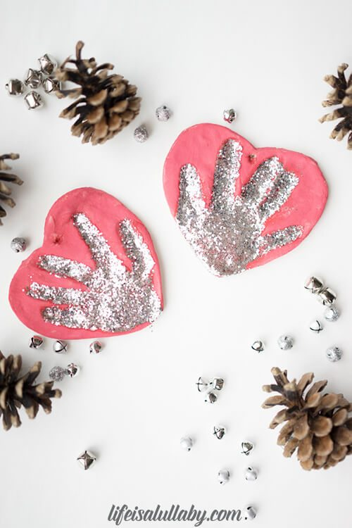 how to make salt dough ornaments and decorations heartshaped ornament