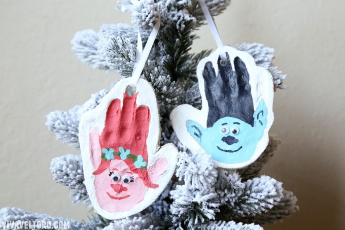 how to make salt dough ornaments and decorations trolls ornament