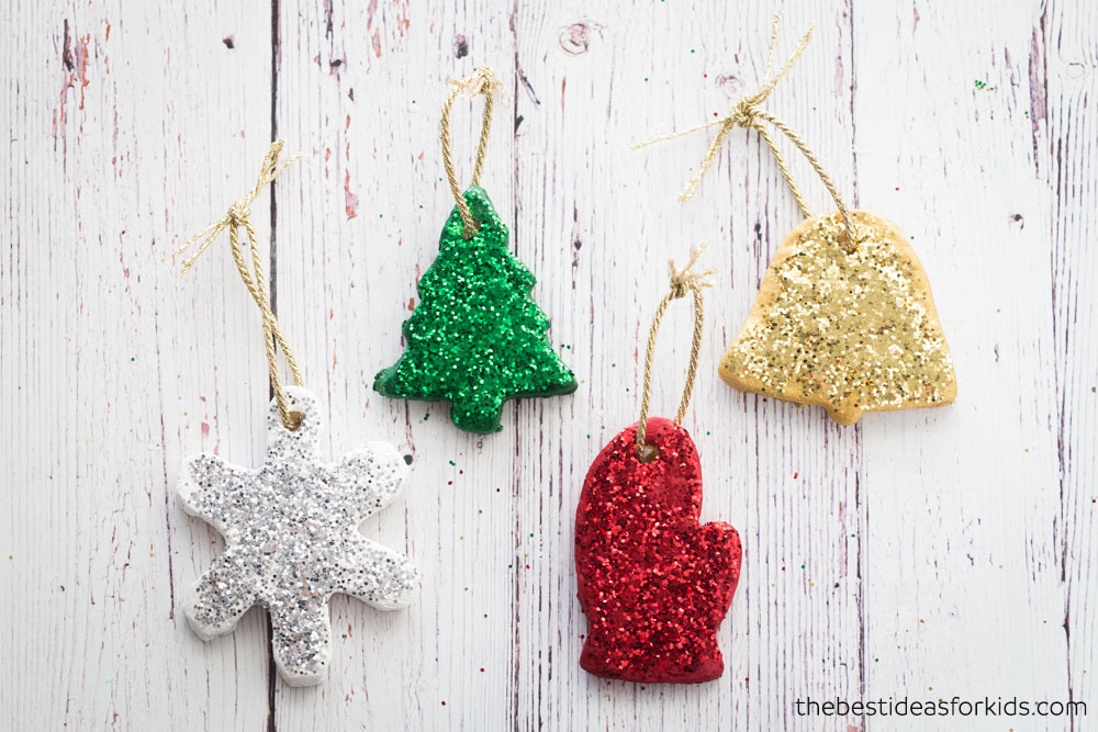 how to make salt dough ornaments and decorations tree ornament