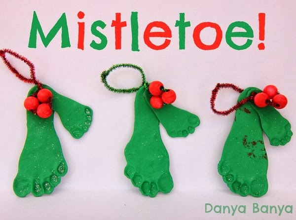how to make salt dough ornaments and decorations mistletoe