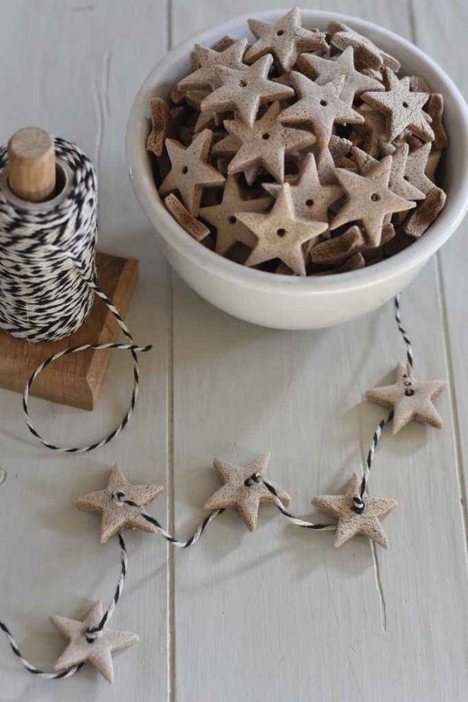how to make salt dough ornaments and decorations scented garland