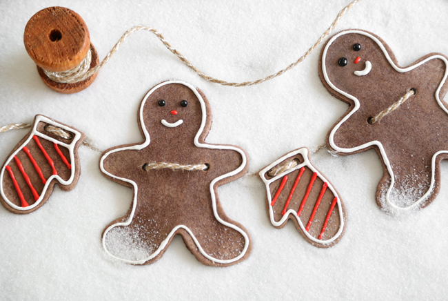 how to make salt dough ornaments and decorations gingerbread garland