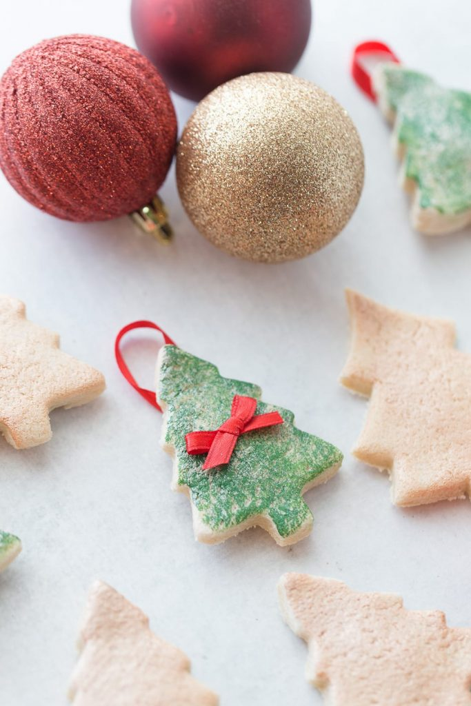 how to make salt dough ornaments and decorations christmas tree ornament